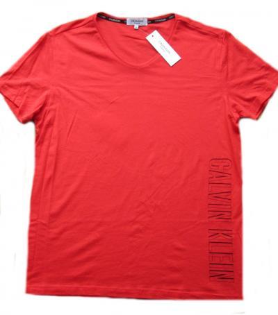 Pánské tričko Calvin Klein KM0KM00333 červené