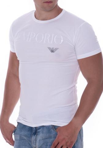 Pánské tričko Emporio Armani 111035 CC716 bílá