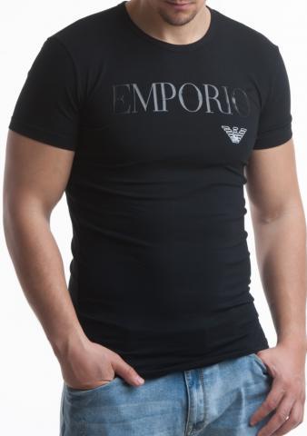 Pánské tričko Emporio Armani 111035 CC716 černá