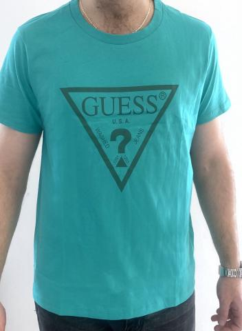 Pánské triko GUESS F92I00 zelené