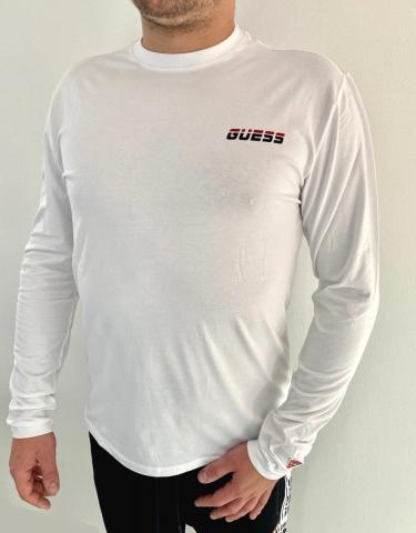 Pánské triko Guess U0BA52 bílé