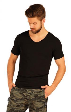 Pánské triko s krátkým rukávem Litex 51237 černé