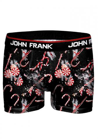 Pánské vánoční boxery John Frank JFBD09 Lízátka