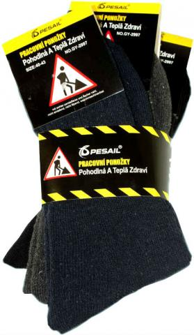 Pánské zimní pracovní ponožky Pesail GY 2996 - 3 páry