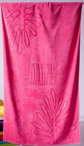 Plážová osuška Riviera růžová 104x180cm