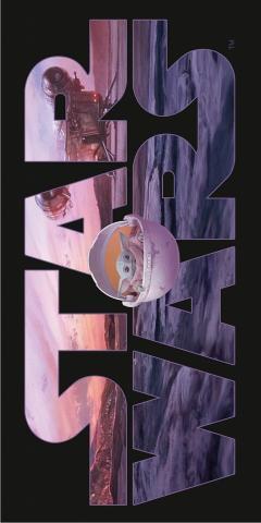 Plážová osuška Star Wars Mandalorian 70x140 cm