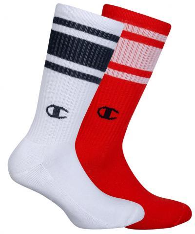 Ponožky Unisex Champion 8SU 2PACK bílá/červená