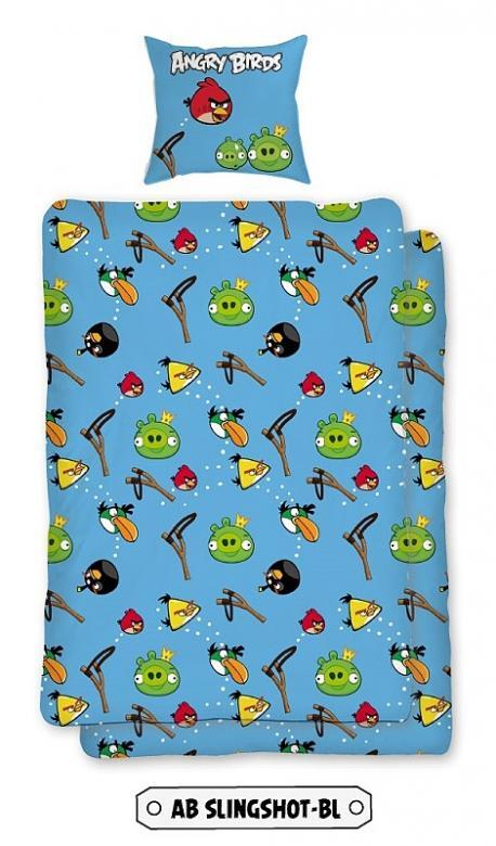 Povlečení bavlna Angry birds Slingshot BL