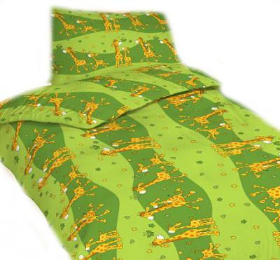 Povlečení bavlna do postýlky Žirafa zelená