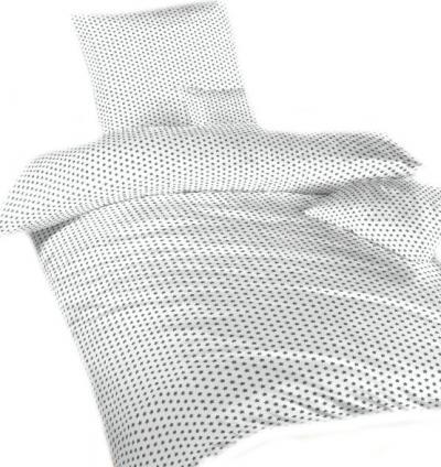 Povlečení bavlna Hvězdička šedá na bílém