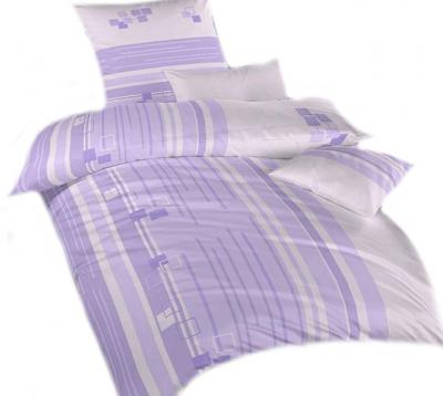 Povlečení bavlna Kostky fialové