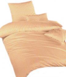 Povlečení bavlna Proužky oranžové
