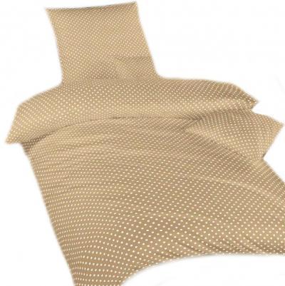 Povlečení bavlna Puntík béžový