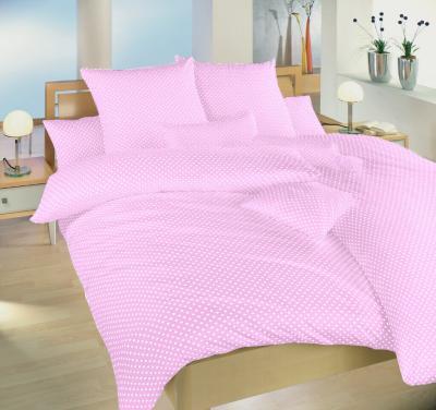 Povlečení bavlna Puntík bílý na růžovém