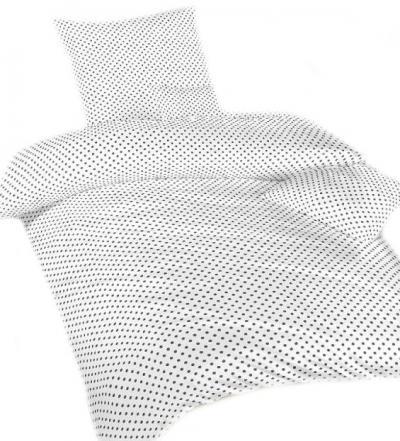 Povlečení bavlna Puntík bílý