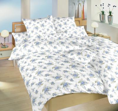 Povlečení bavlna Velké růže modré 240x220, 2x70x90 cm