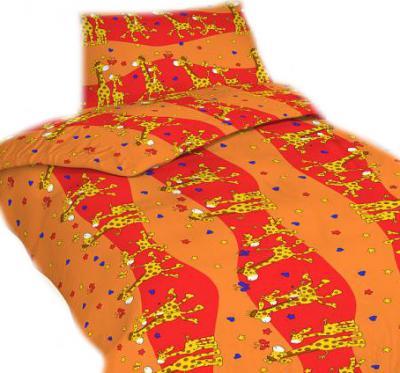 Povlečení bavlna Žirafa červená