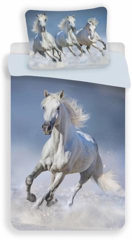 Povlečení fototisk Horses white