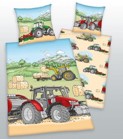Povlečení Herding bavlna Traktor