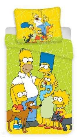 Povlečení Simpsons green 02