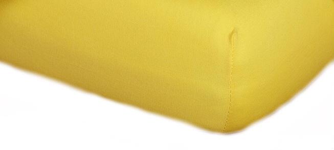 Prostěradla jersey - tmavě žlutá