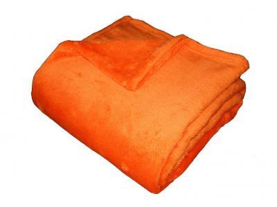 Super soft deka Dadka oranžová