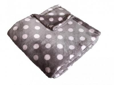 Super soft deka Dadka Puntík růžový/béžová