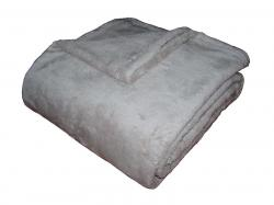 Super soft deka Dadka světle šedá