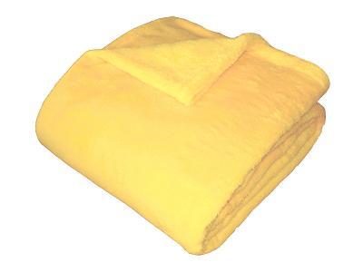 Super soft deka Dadka světle žlutá 150x100 ccm