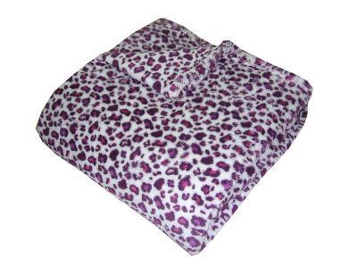 Super soft deka Safari Gepard fialový 150x100 cm