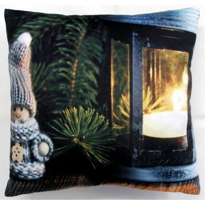 Svítící dekorační polštářek Trpaslík 40x40 cm