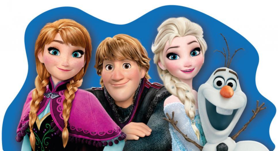 Tvarovaný plněný polštářek Frozen
