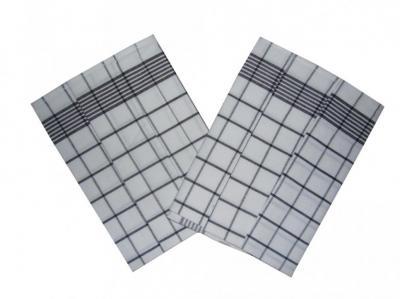 Utěrka Negativ Egyptská bavlna bílá/černá - 3 ks