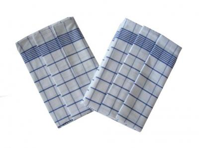 Utěrka Negativ Egyptská bavlna bílá/modrá - 3 ks