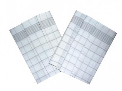 Utěrka Negativ Egyptská bavlna bílá/šedá - 3 ks