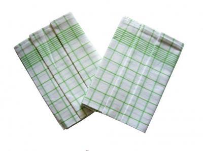 Utěrka Negativ Egyptská bavlna bílá/zelená - 3 ks