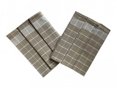 Utěrka Pozitiv Egyptská bavlna béžová/bílá - 3 ks