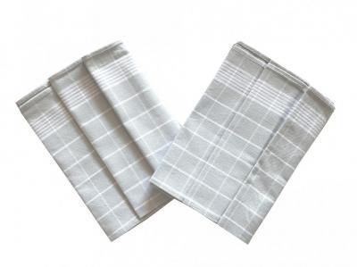 Utěrka Pozitiv Egyptská bavlna šedá/bílá - 3 ks