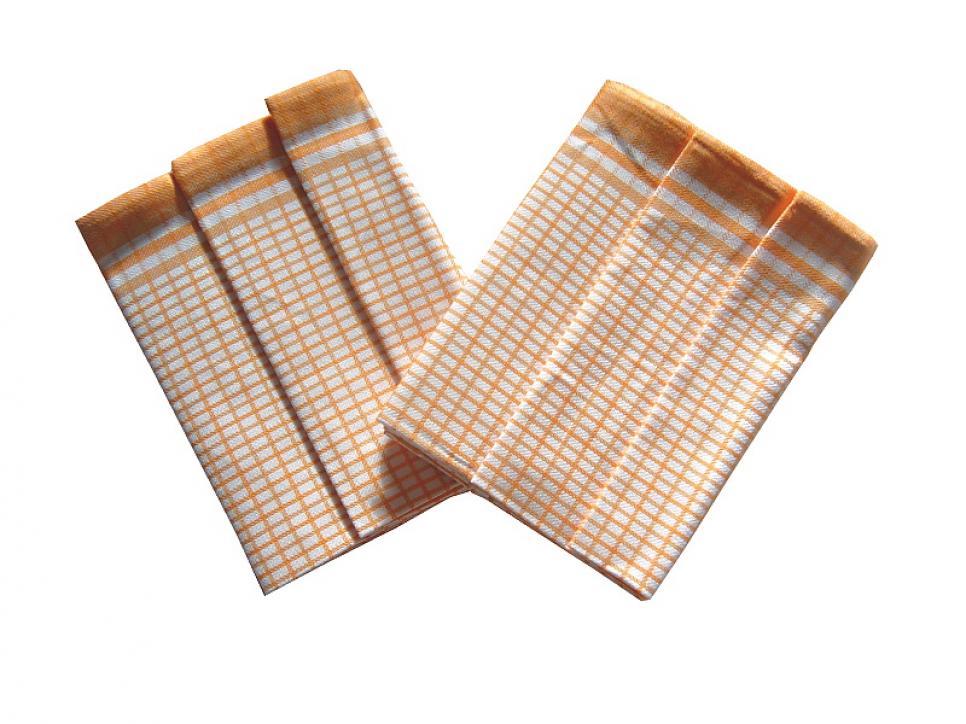 Utěrky Bambus - Kostka malá žlutá - 3 ks