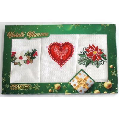 Vánoční dárková sada utěrek - 3 ks